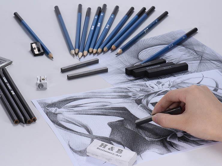 الرسم بالرصاص اهم الخطوات مميزاته أنواع الاقلام وكيفية تحديدها