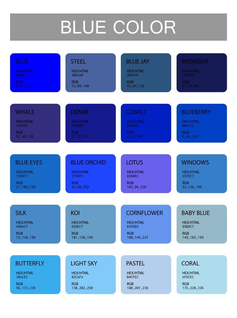 درجات الالوان كاملة للأزياء والديكور وكيفية اختيار اللون المناسب لمنزلك